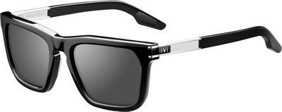 IVI Gravitas Sunglasses Polished Black - Brushed Silver/Grey AR - IVI Eyewear
