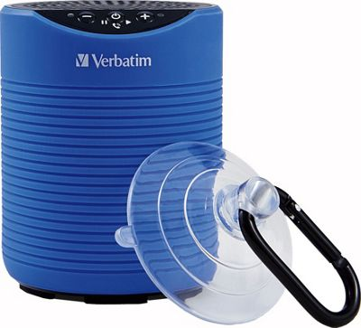 Mini Wireless Waterproof Bluetooth Speaker Blue - Verbatim Portable Entertainment