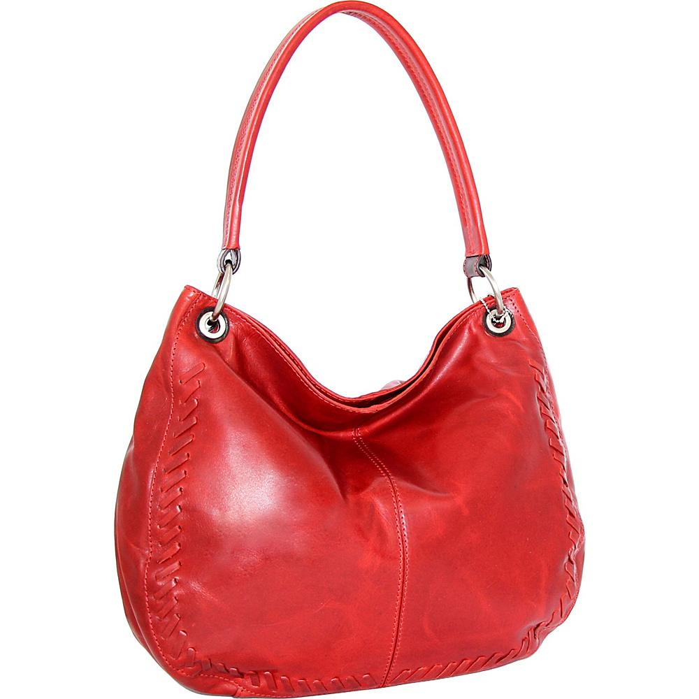 Nino Bossi Tessa Hobo Tomato - Nino Bossi Leather Handbags - Handbags, Leather Handbags
