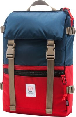 Topo Designs Rover Pack Laptop Backpack Red/Navy - Topo Designs Laptop Backpacks