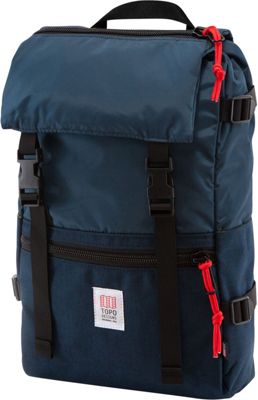 Topo Designs Rover Pack Laptop Backpack Navy - Topo Designs Laptop Backpacks