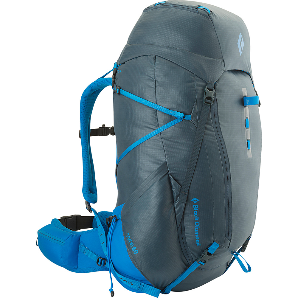 Black Diamond Element 60 Hiking Pack Moroccan Blue - Large - Black Diamond Backpacking Packs - Outdoor, Backpacking Packs