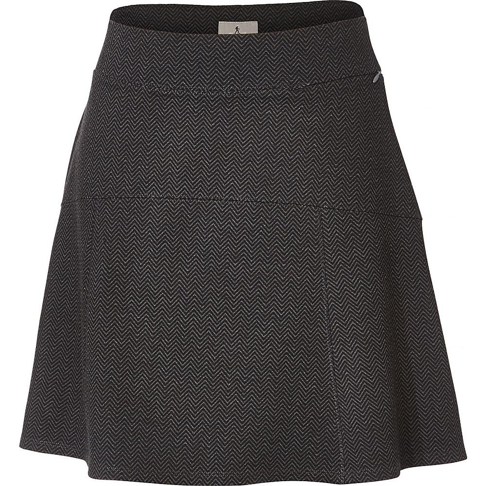 Royal Robbins Womens Lucerne Ponte Swingy Skirt L - Herringbone Charcoal - Royal Robbins Womens Apparel - Apparel & Footwear, Women's Apparel