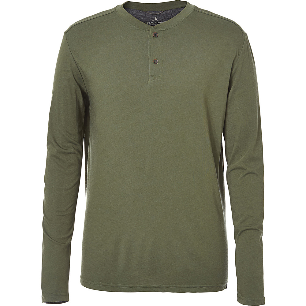 Royal Robbins Mens MerinoLux Henley XXL - Bayleaf - Royal Robbins Mens Apparel - Apparel & Footwear, Men's Apparel