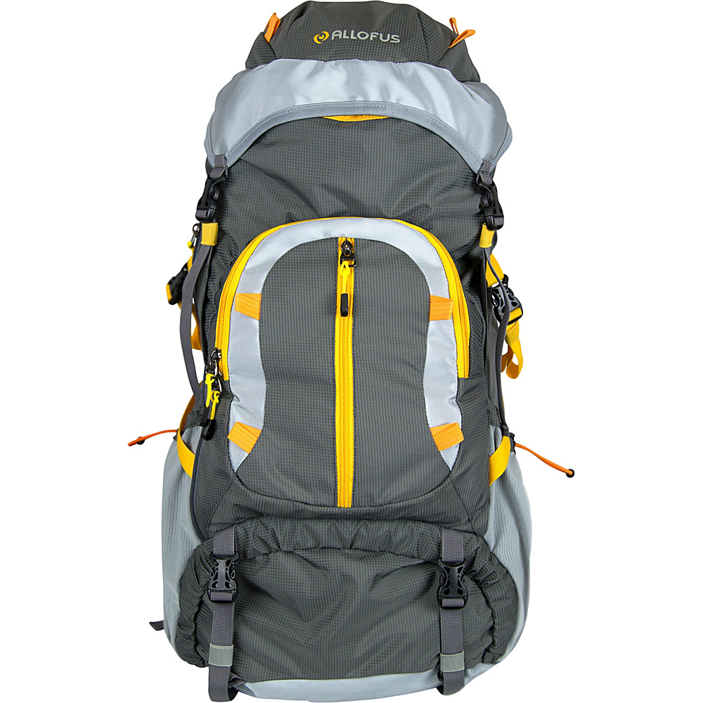 Image of All of Us 45L Hiking Pack Grey/Orange - All of Us Day Hiking Backpacks
