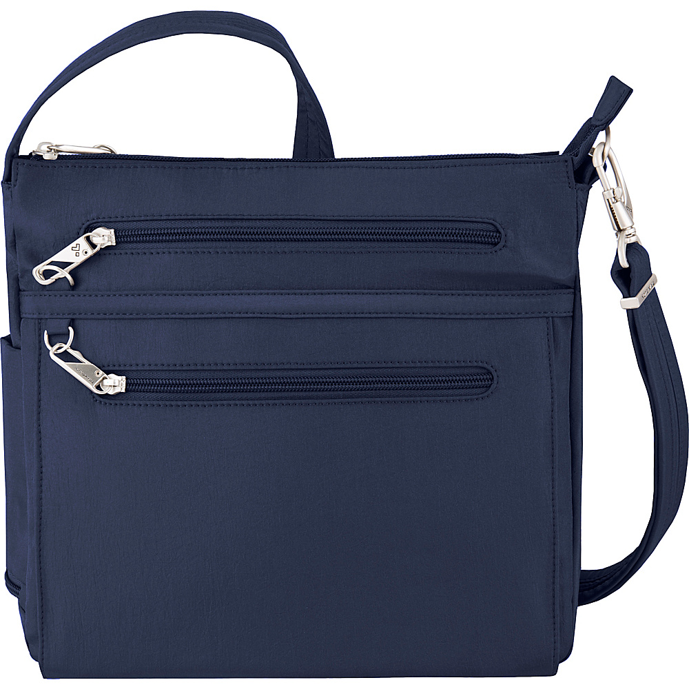 Travelon Anti-Theft Essential North/South Crossbody Bag - Exclusive Royal Blue/Gray Interior - Travelon Fabric Handbags - Handbags, Fabric Handbags