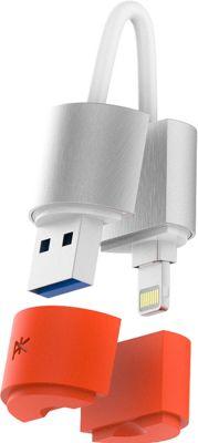 PK Paris K'ablekey 32GB USB 3.0 Flash Drive Silver, Orange - PK Paris Electronic Accessories