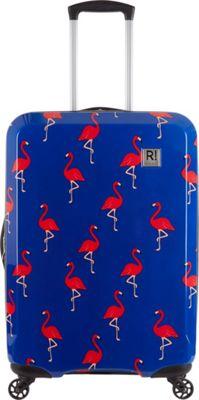 Revelation Maluku BQ Max 27 inch Expandable Hardside Checked Spinner Luggage Navy Flamingos - Revelation Large Rolling Luggage