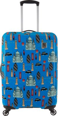 Revelation Maluku BQ Max 27 inch Expandable Hardside Checked Spinner Luggage Blue London - Revelation Hardside Checked