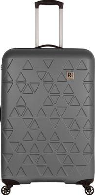 Revelation Echo Max 31 inch Expandable Hardside Checked Spinner Luggage Charcoal - Revelation Large Rolling Luggage