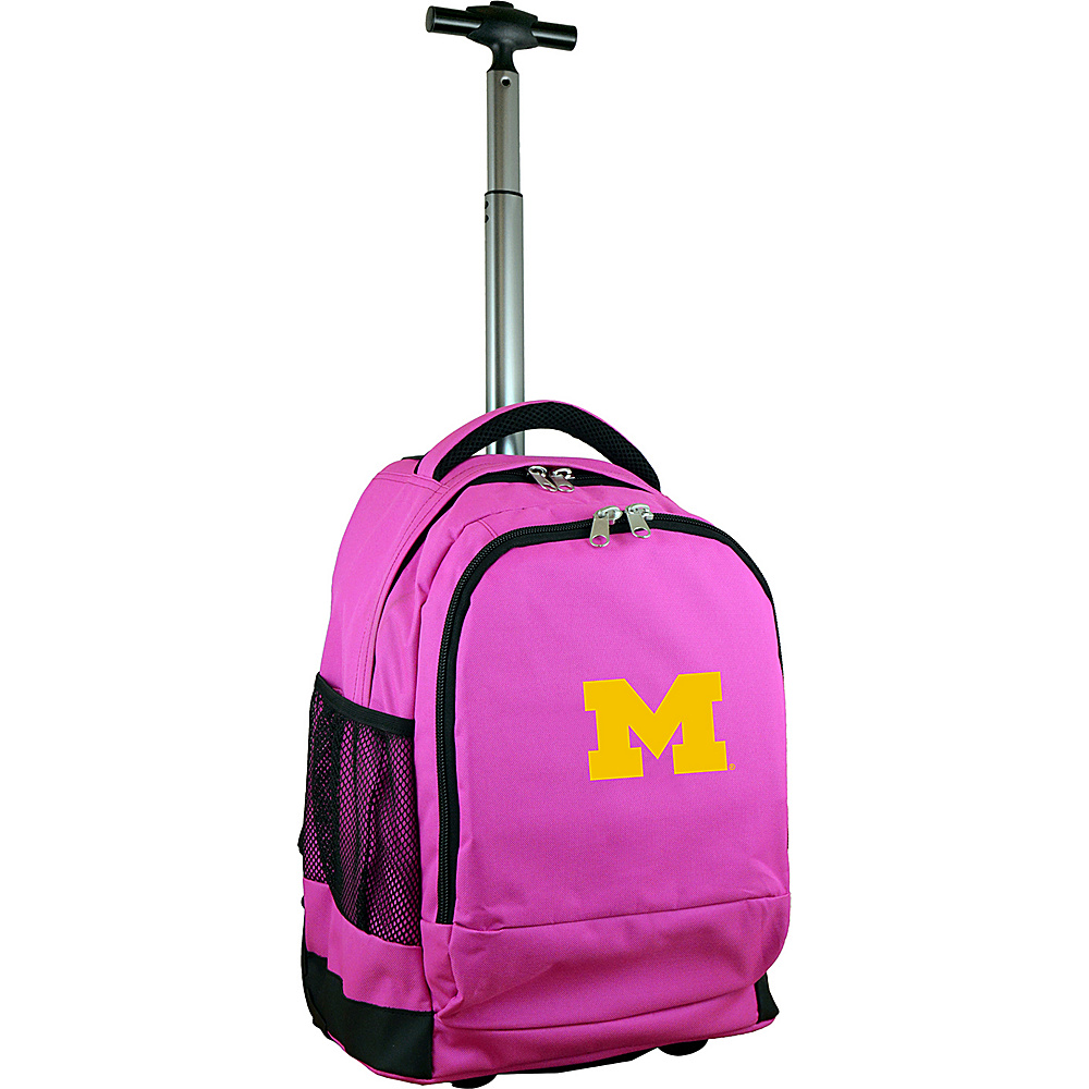 MOJO Denco College NCAA Premium Laptop Rolling Backpack Michigan - MOJO Denco Rolling Backpacks - Backpacks, Rolling Backpacks