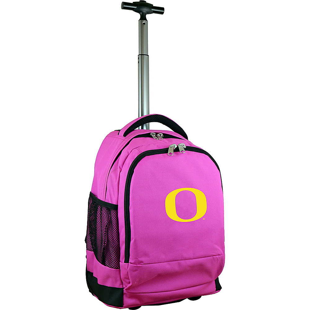 MOJO Denco College NCAA Premium Laptop Rolling Backpack Oregon - MOJO Denco Rolling Backpacks - Backpacks, Rolling Backpacks