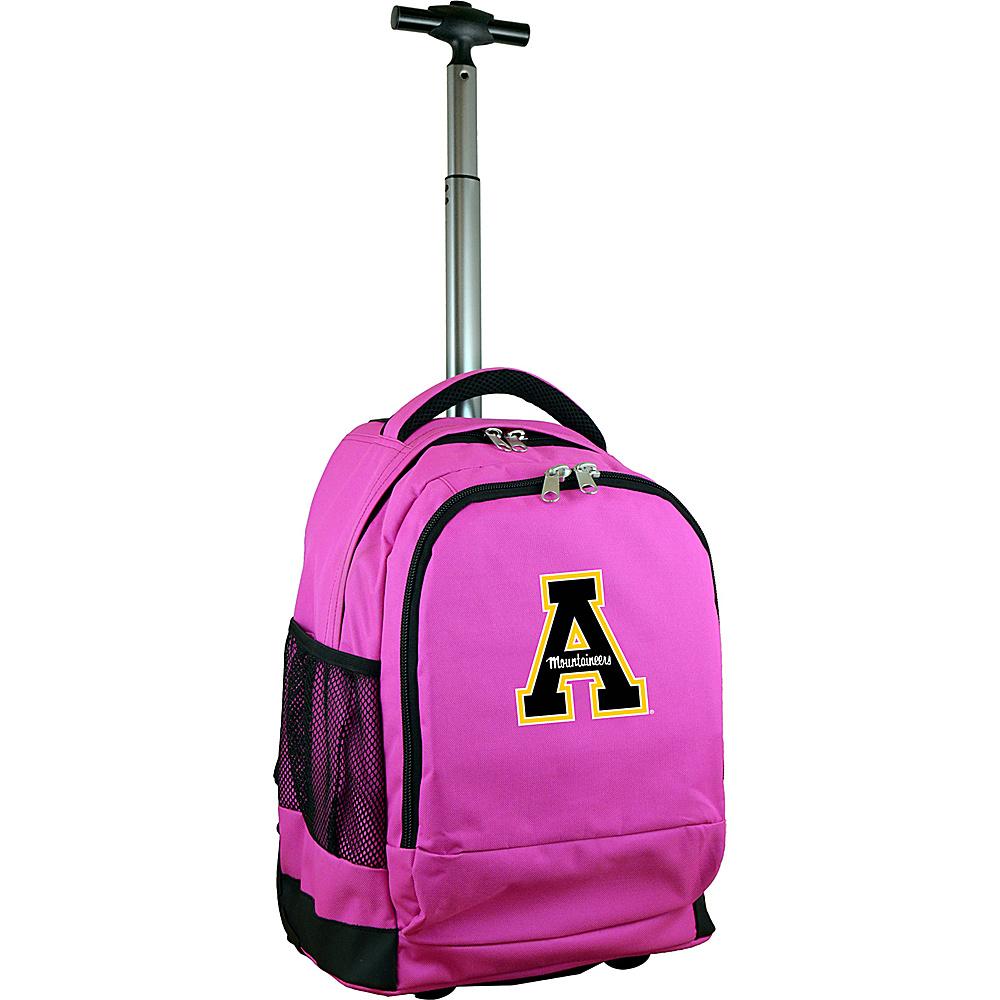 MOJO Denco College NCAA Premium Laptop Rolling Backpack Appalachian State - MOJO Denco Rolling Backpacks - Backpacks, Rolling Backpacks