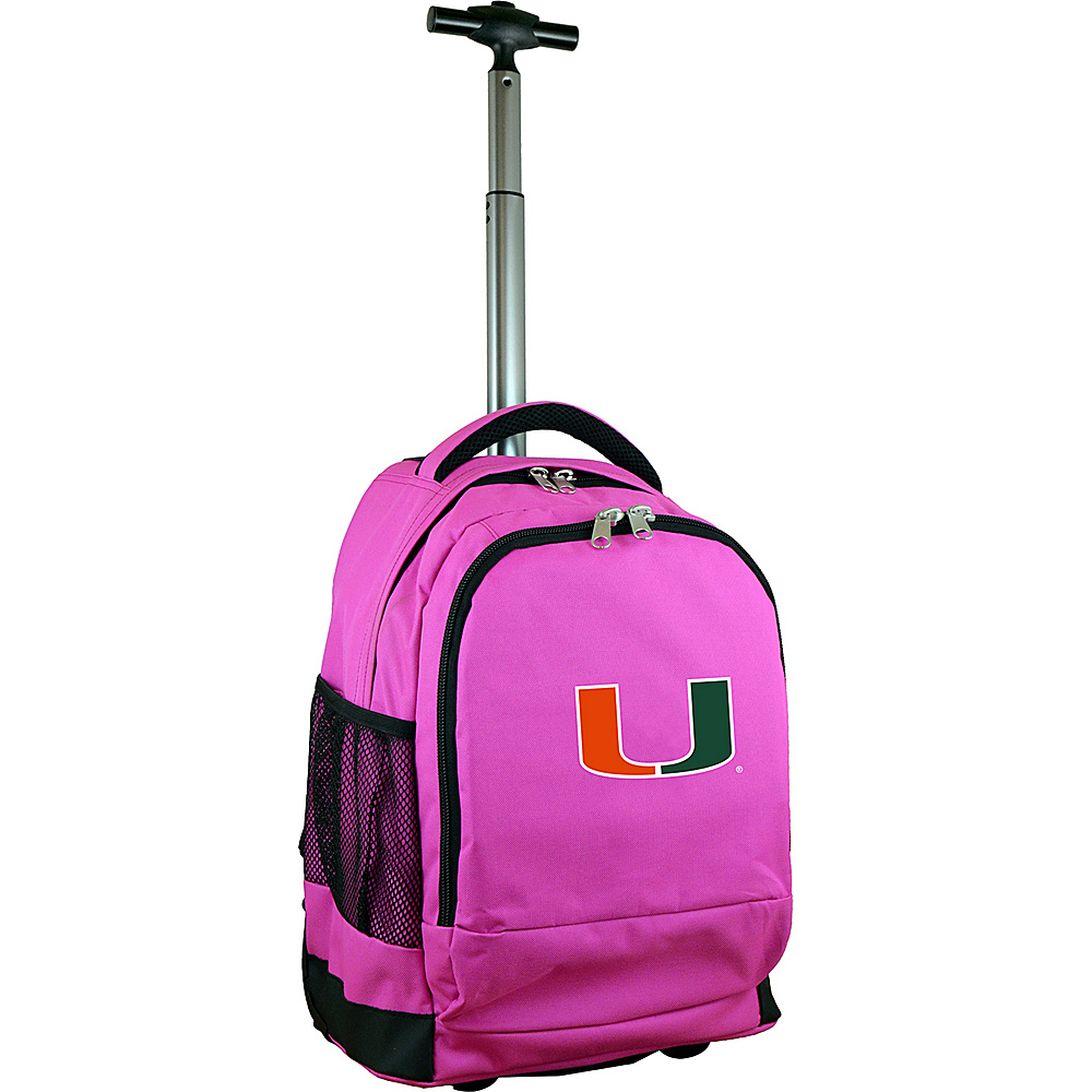 MOJO Denco College NCAA Premium Laptop Rolling Backpack Miami - MOJO Denco Rolling Backpacks - Backpacks, Rolling Backpacks