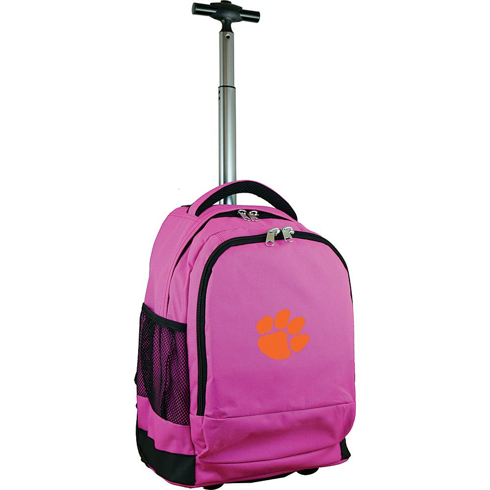 MOJO Denco College NCAA Premium Laptop Rolling Backpack Clemson - MOJO Denco Rolling Backpacks - Backpacks, Rolling Backpacks