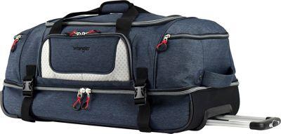 Wrangler 30 inch 2-Section Drop Bottom Rolling Duffel Navy - Wrangler Travel Duffels