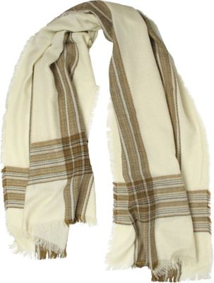 Woolrich Accessories Woolrich Accessories Crosshatch Wrap Scarf Ivory - Woolrich Accessories Hats/Gloves/Scarves