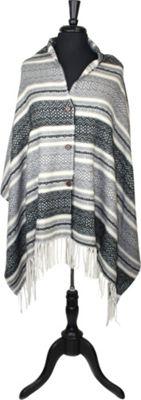 Bear Paw Snow Days Button Wrap One Size  - Ivory/Black/Grey - Bear Paw Women's Apparel