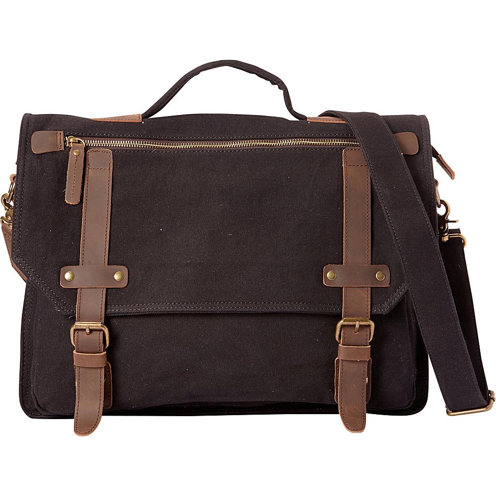 Vagabond Traveler Classic Canvas Laptop Messenger Bag Black - Vagabond Traveler Messenger Bags - Work Bags & Briefcases, Messenger Bags