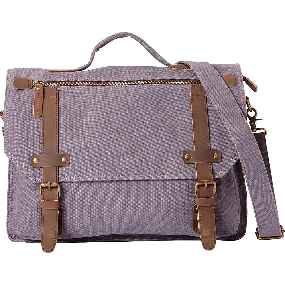 Vagabond Traveler Classic Canvas Laptop Messenger Bag Blue Grey - Vagabond Traveler Messenger Bags - Work Bags & Briefcases, Messenger Bags
