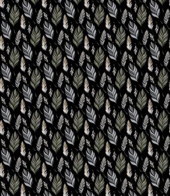 Quagga Green Ruffled Feather's Blanket Scarf Black - Quagga Green Travel Pillows & Blankets