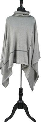 Quagga Green Check Yourself Poncho One Size  - Heather Grey - Quagga Green Women's Apparel