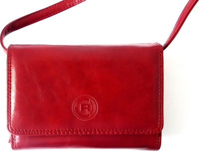 Club Rochelier Small Expander Purse on a String Red - Club Rochelier Women's Wallets