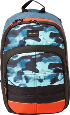 Quiksilver Burst 20L Medium Laptop Backpack Moroccan Blue Camo - Quiksilver Laptop Backpacks