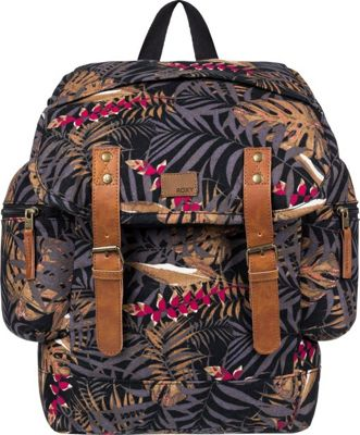 Roxy Free For Sun 17.5L Medium Backpack Anthracite Jungly Flowers - Roxy Everyday Backpacks