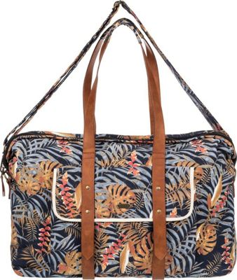 Roxy Beach Entry Weekender Duffel Anthracite Jungly Flowers - Roxy Travel Duffels
