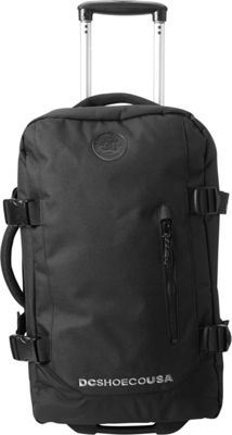 DC Shoes Men's Forager Cabin 56L Wheeled Cabin Bag Black - DC Shoes Softside Carry-On