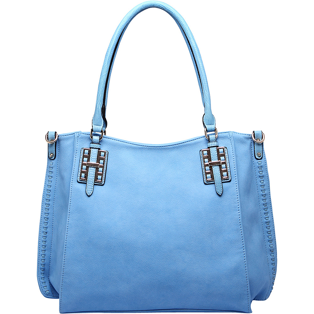 MKF Collection by Mia K. Farrow Soho Satchel Blue - MKF Collection by Mia K. Farrow Manmade Handbags - Handbags, Manmade Handbags