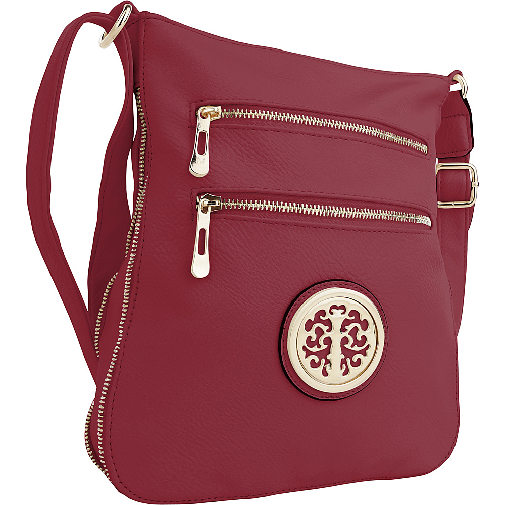 MKF Collection by Mia K. Farrow Aline Crossbody Red - MKF Collection by Mia K. Farrow Manmade Handbags - Handbags, Manmade Handbags