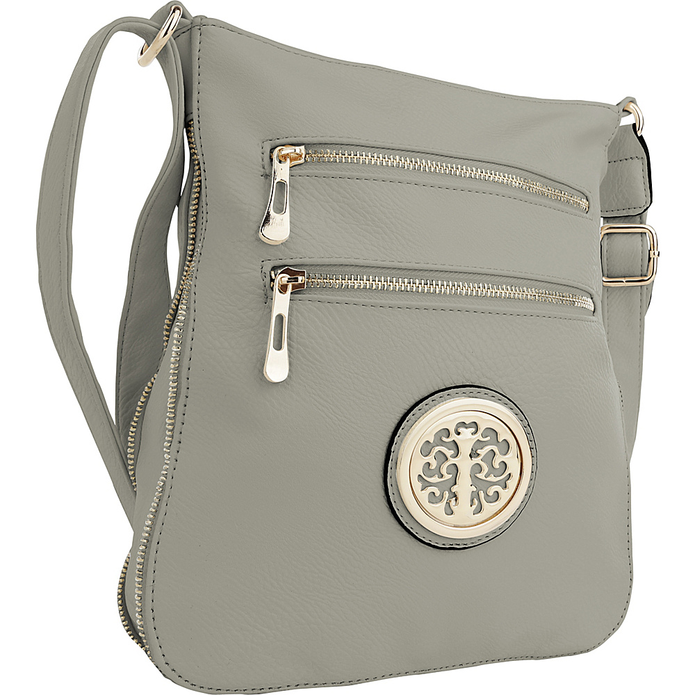 MKF Collection by Mia K. Farrow Aline Crossbody Light Grey - MKF Collection by Mia K. Farrow Manmade Handbags - Handbags, Manmade Handbags
