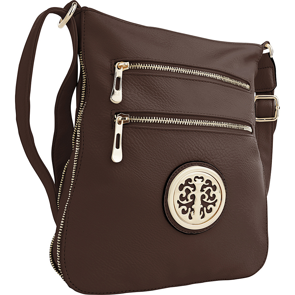 MKF Collection by Mia K. Farrow Aline Crossbody Coffee - MKF Collection by Mia K. Farrow Manmade Handbags - Handbags, Manmade Handbags
