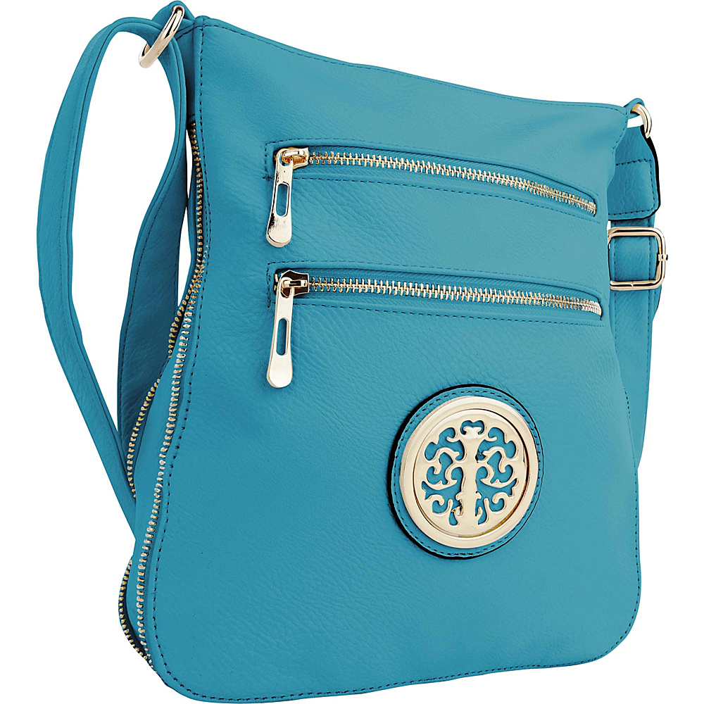 MKF Collection by Mia K. Farrow Aline Crossbody Turquoise - MKF Collection by Mia K. Farrow Manmade Handbags - Handbags, Manmade Handbags