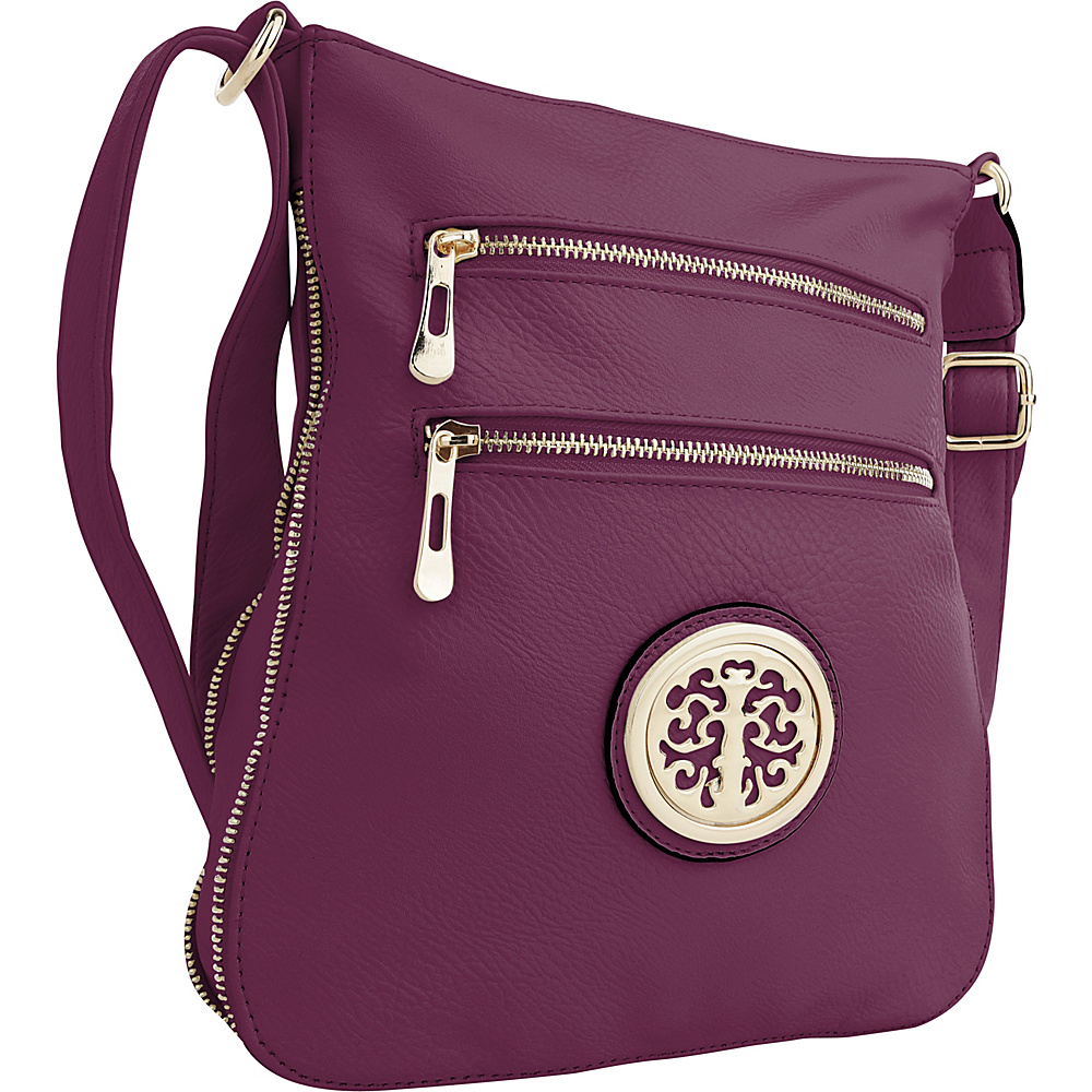 MKF Collection by Mia K. Farrow Aline Crossbody Purple - MKF Collection by Mia K. Farrow Manmade Handbags - Handbags, Manmade Handbags