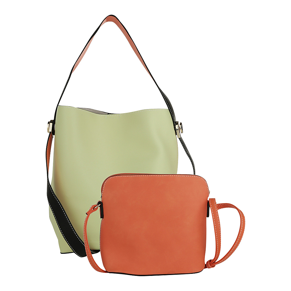 MKF Collection by Mia K. Farrow Berkeley Double Side Bucket Satchel Lime - MKF Collection by Mia K. Farrow Manmade Handbags - Handbags, Manmade Handbags