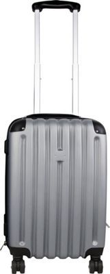 "Image of Bellino 20"" Expandable Hardside Spinner Carry-On Luggage Silver/Grey - Bellino Hardside Carry-On"
