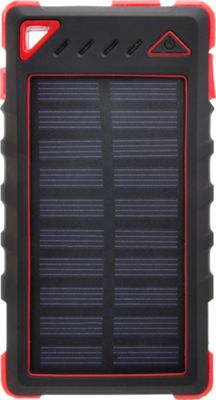 Zunammy 8000 mAh Solar Power Bank Red - Zunammy Portable Batteries & Chargers