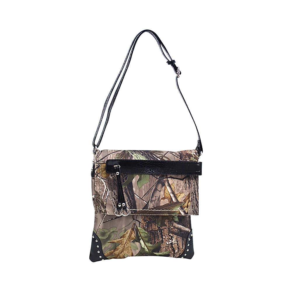Dasein Tassel and Stud Accent Realtree Camouflage Messenger Bag APG Camouflage/Black - Dasein Manmade Handbags - Handbags, Manmade Handbags