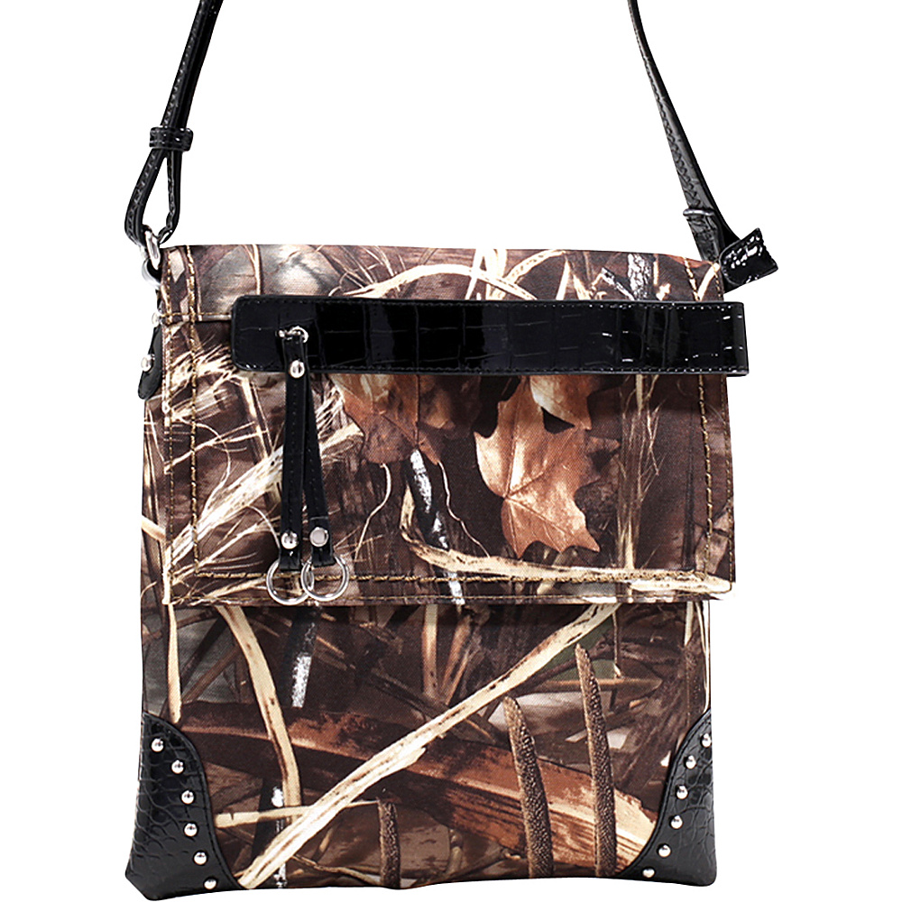 Dasein Tassel and Stud Accent Realtree Camouflage Messenger Bag Max4 Camouflage/Black - Dasein Manmade Handbags - Handbags, Manmade Handbags