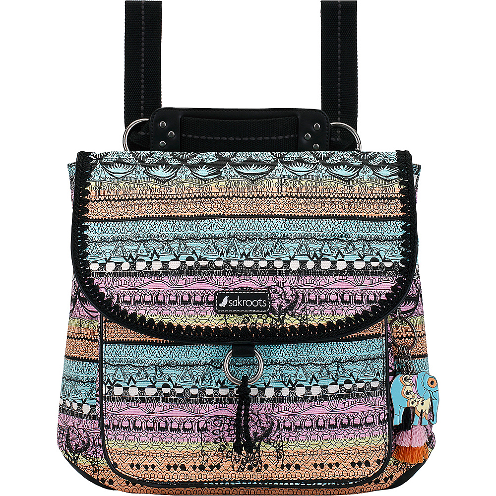 Sakroots Convertible Backpack Sherbet One World - Sakroots Everyday Backpacks - Backpacks, Everyday Backpacks