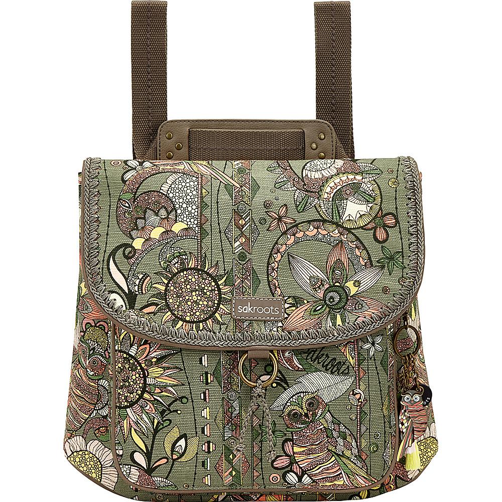 Sakroots Convertible Backpack Olive Spirit Desert - Sakroots Everyday Backpacks - Backpacks, Everyday Backpacks