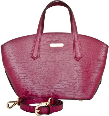 Leatherbay Orta Tote Wine Red - Leatherbay Leather Handbags