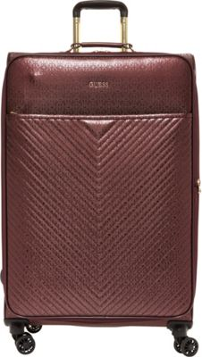 GUESS Travel Halley 28 inch Expandable Spinner Checked Luggage Bordeaux - GUESS Travel Softside Checked