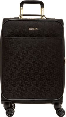 GUESS Travel Ryann 20 inch Expandable Spinner Carry-On Luggage Black - GUESS Travel Softside Carry-On