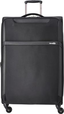 Genius Pack 30 inch Spinner Upright Checked Luggage Black - Genius Pack Softside Checked