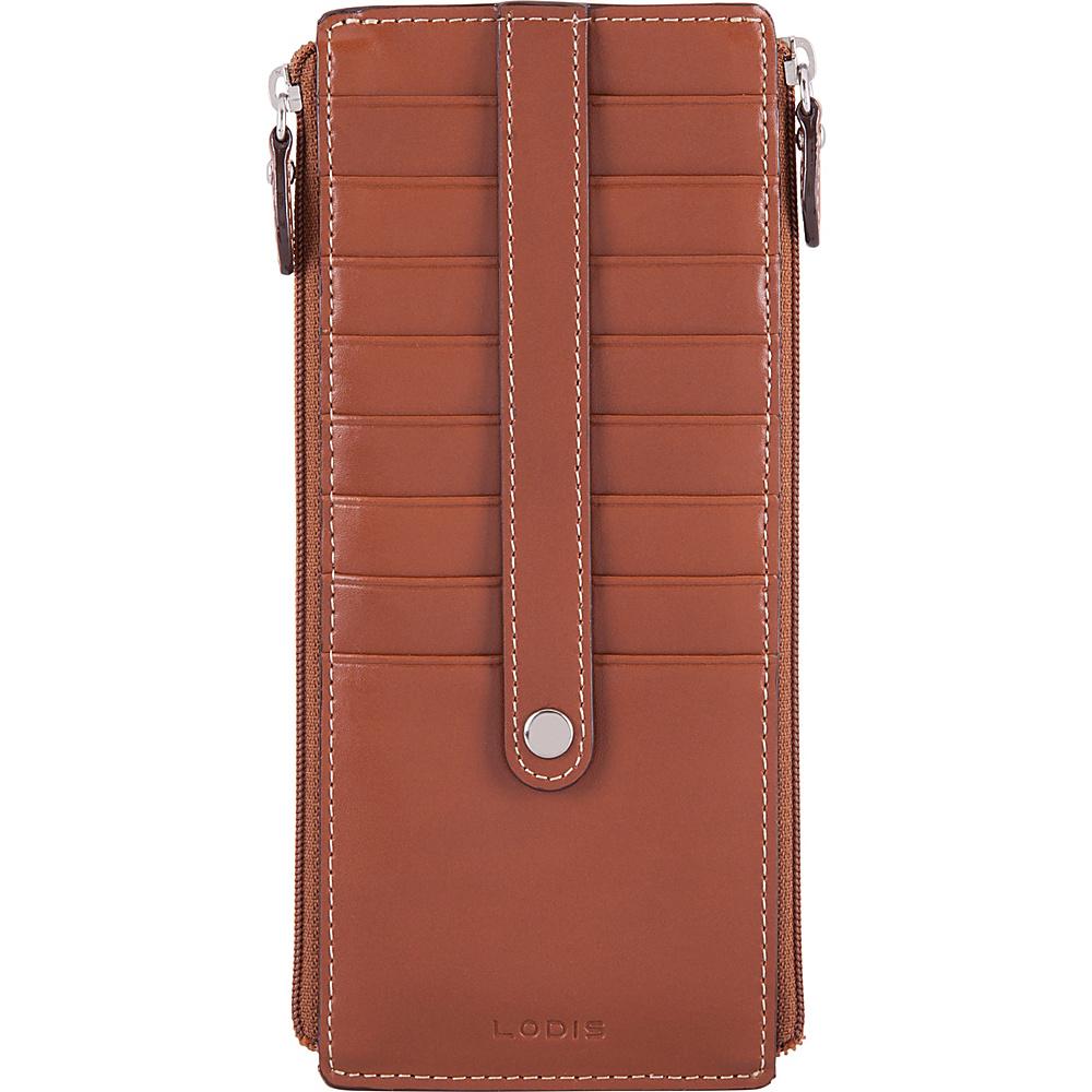 Lodis Audrey RFID Joan Double Zip Card Case Sequoia/Papaya - Lodis Womens Wallets - Women's SLG, Women's Wallets