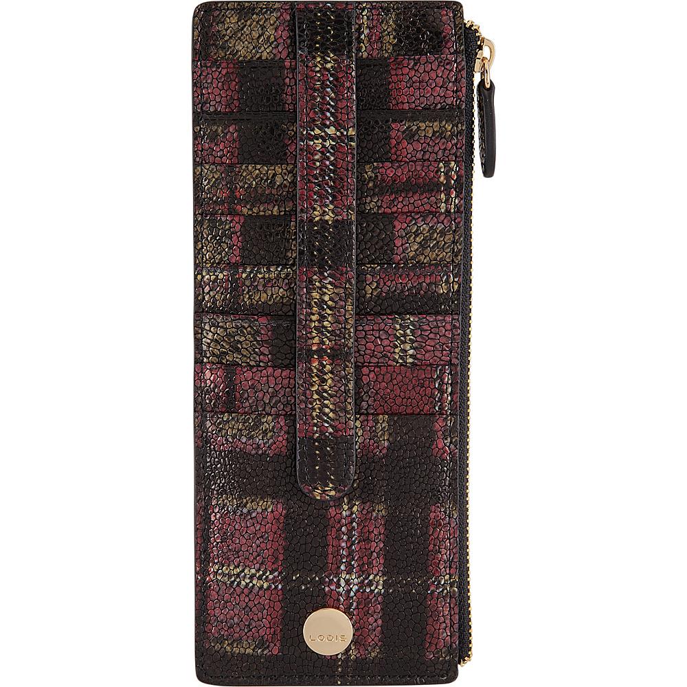 Lodis Romance RFID Credit Card Case with Zipper Pocket Red - Lodis Womens Wallets - Women's SLG, Women's Wallets
